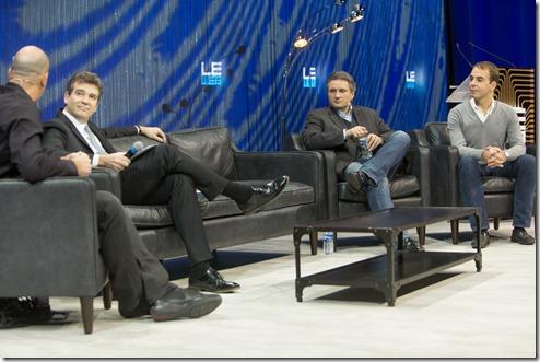 Arnaud Montebourg Loïc Le Meur Jeff Clavier et Fabrice Grinda