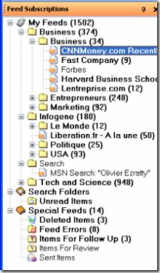 Arborescence des feeds dans RSS Bandit