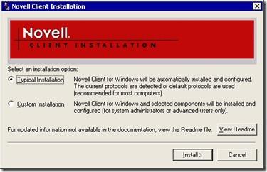 Novell Netware client