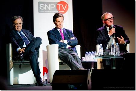 Nonce Paolini (TF1) Nicolas de Tavernost (M6) Bertrand Meheu (Canal )