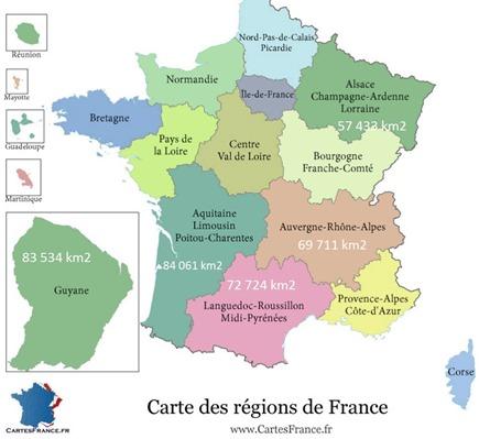 Régions de France et Guyane