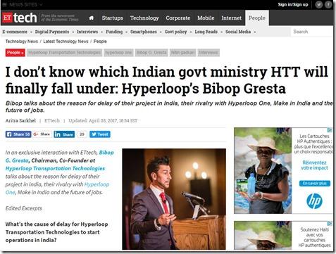 Hyperloop One Delays in India