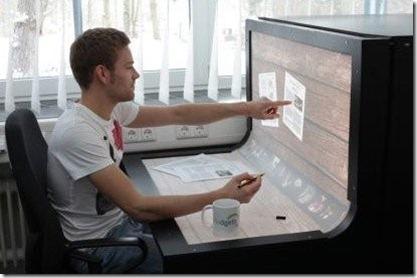 Futuristic desktop computer