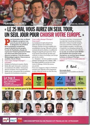 Prospectus PS pour Europeennes 2014