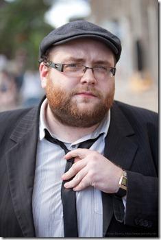 Simon Robic (1) et sa cravatte nantaise