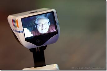 Jean-Michel Billaut in a Gostai robot