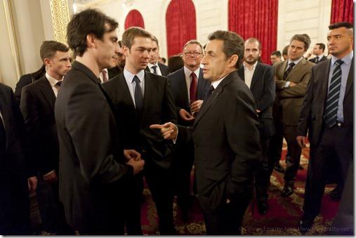 Nicolas Sarkozy Nicolas Princen and Julien Codorniou (Facebook) (1)