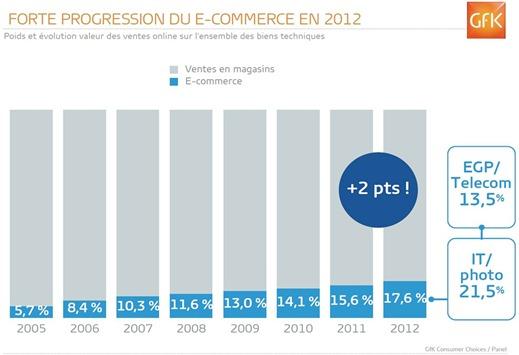 Poids du eCommerce GFK 2012