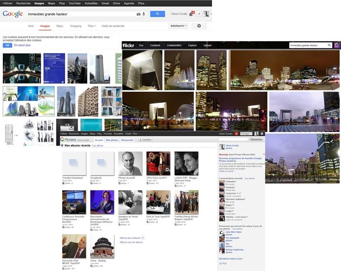 Picasa Google Image et Flickr