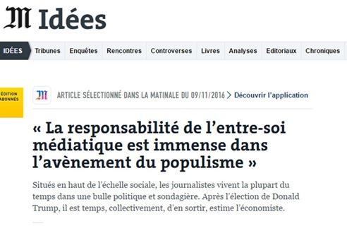 Entre soi media Le Monde