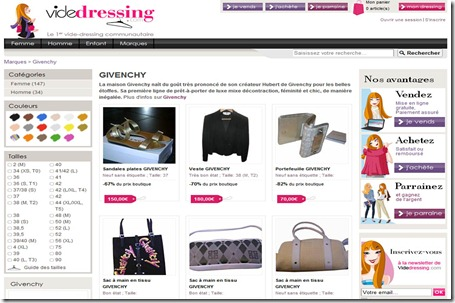 VideDressing Home Page