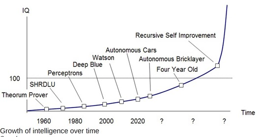 Growth of intelligence over time