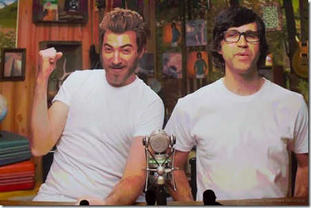 Michael Stevens (vsauce) Rhett Mclaughlin and Link Neal (Rhett & Link) (2)