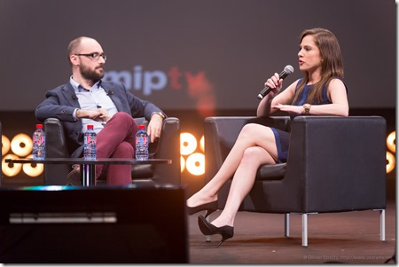 Michael Stevens (vsauce) and Ana Kasparian (The Young Turks) (4)