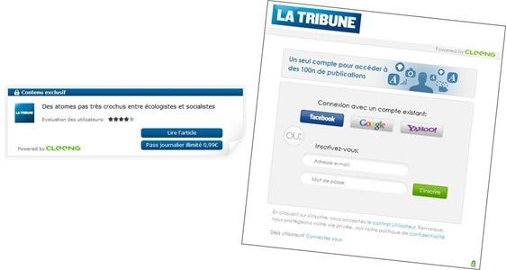 Cleeng La Tribune