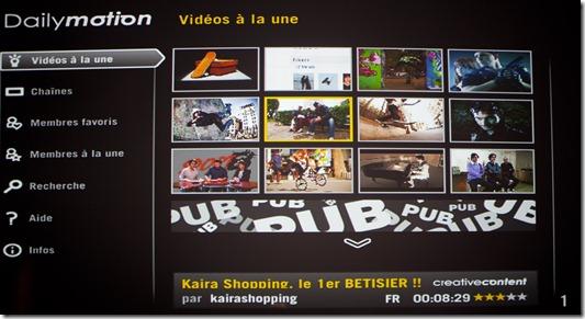 DailyMotion dans NeufBox Evolution