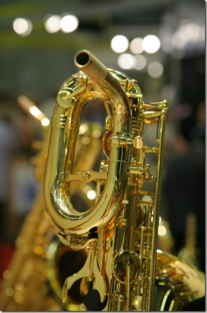 Close up d'un saxo