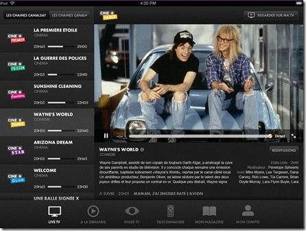 Canal Touch sur iPad