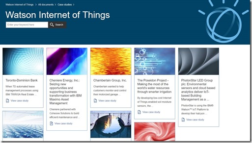 IBM Watson IOT Case Studies