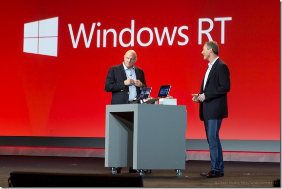 Steve Ballmer et Paul Jacobs (Qualcomm)