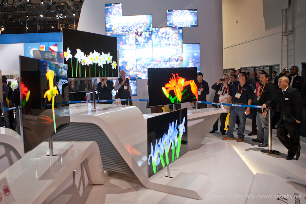 Samsung OLED 55  screen CES 2012
