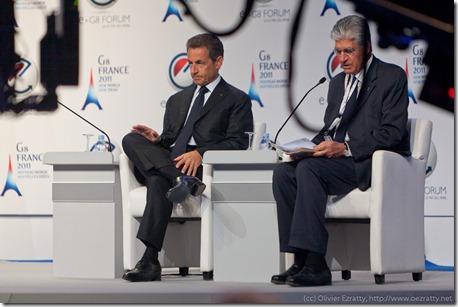 Nicolas Sarkozy et Maurice Levy (1)