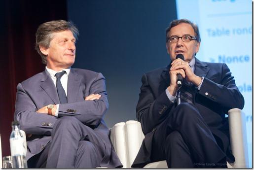 Nicolas de Tavernost (M6) et Nonce Paolini (TF1) (3)