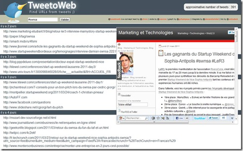 Interface de Tweetoweb