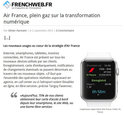 Air France dans Frenchweb
