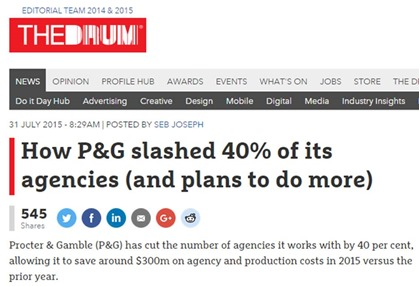 P&G Agencies Cuts