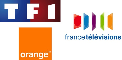 Logos TF1 France Télévisions Orange