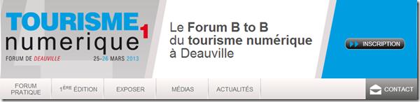 Forum Tourisme Numerique Deauville 2013