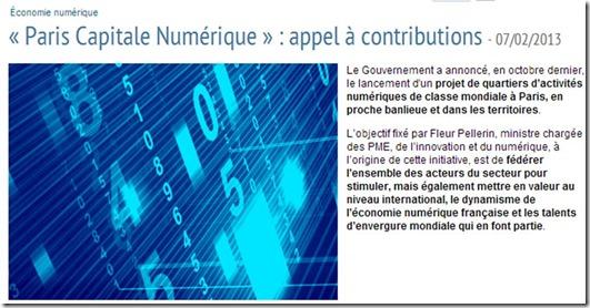 Paris Capitale Numerique
