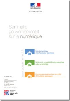 Seminaire Gouvernemental Numerique Feb2013