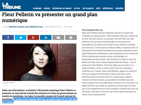 Fleur Pellerin Paris Capitale Startups