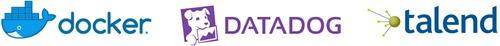 Logos Datadog Docker et Talend