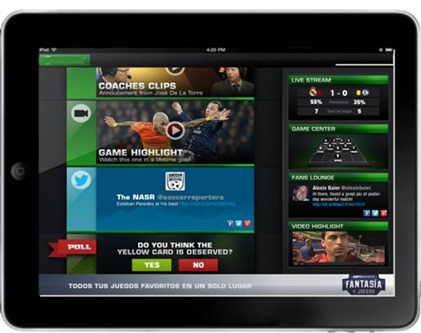 NFL Visiware Second Screen Application