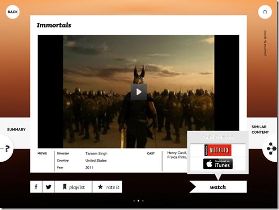 Spideo avec iTunes et Netflix