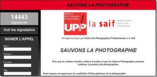 Appel sauvons la photographie