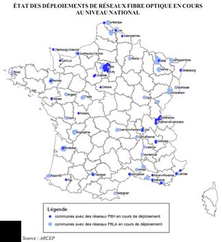 Deploiement Fibre Fin 2011 France