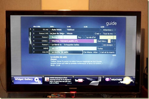 Yahoo Widgets on Samsung LCD TV (1)