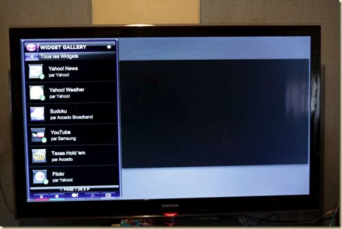 Yahoo Widgets on Samsung LCD TV (2)