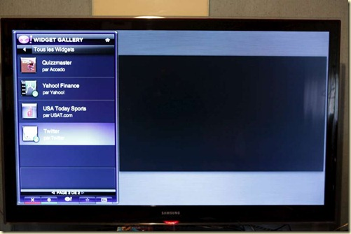 Yahoo Widgets on Samsung LCD TV (3)