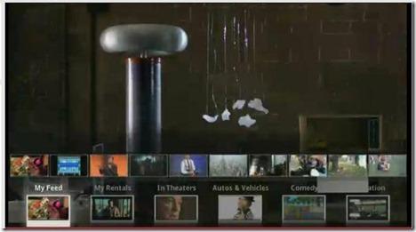 YouTube Leanback screen