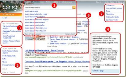 Bing Fonctions de Base
