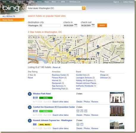 Bing Recherche Hotel