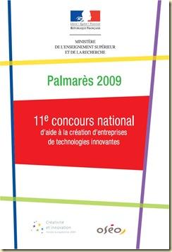 Palmares 2009 Concours National Entreprises Technologies Innovantes