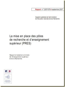 Rapport PRES