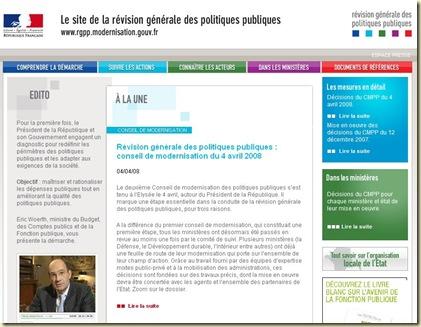 RGPP Site web